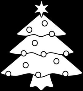 Christmas Tree Outline Clip Art