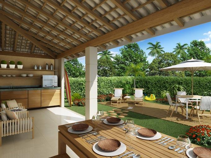Um jardim para cuidar Nova tendênciavaranda gourmet