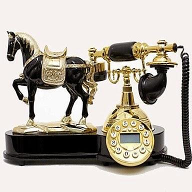 Teléfono Antiguo con Caballo