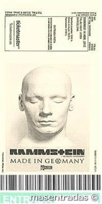 entrada de concierto de rammstein