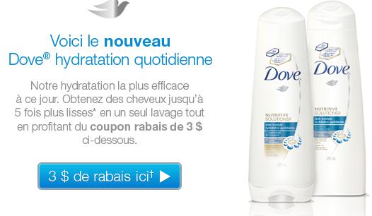Coupons rabais dove shampooing