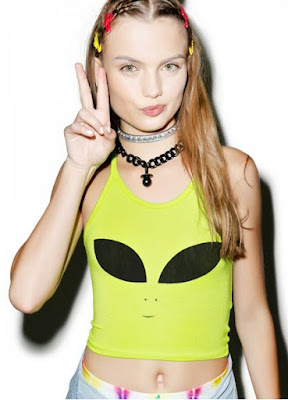 Alien Face Halter Top {Dolls Kill}