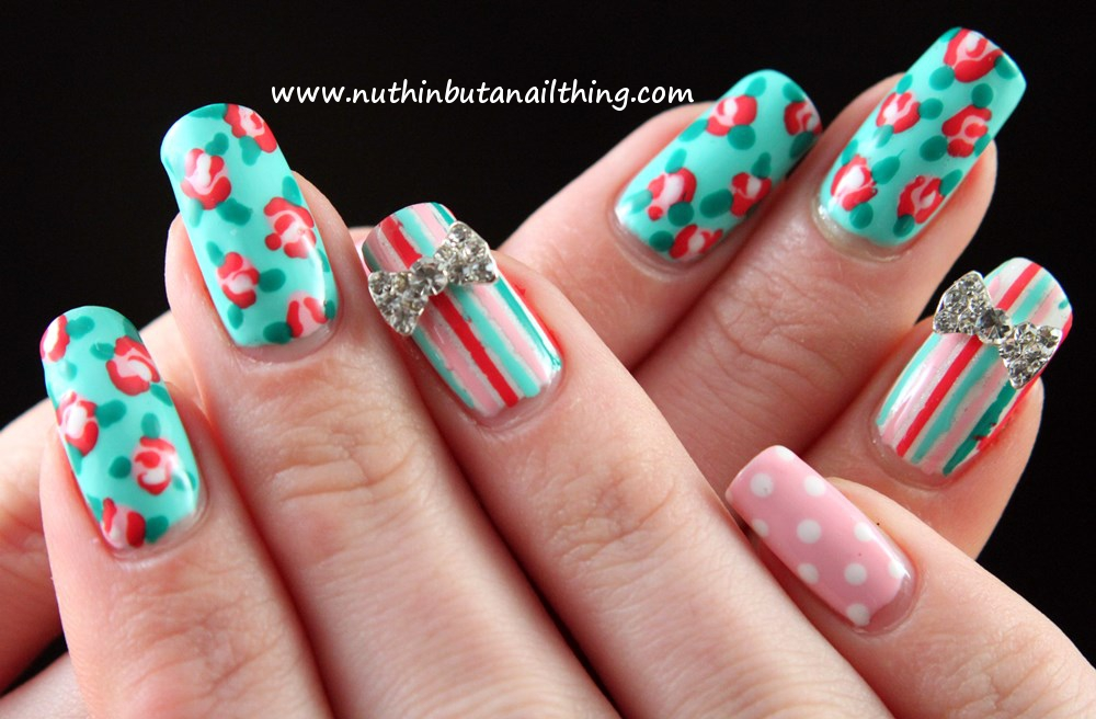Nuthin But A Nail Thing Vintage Style Nail Art