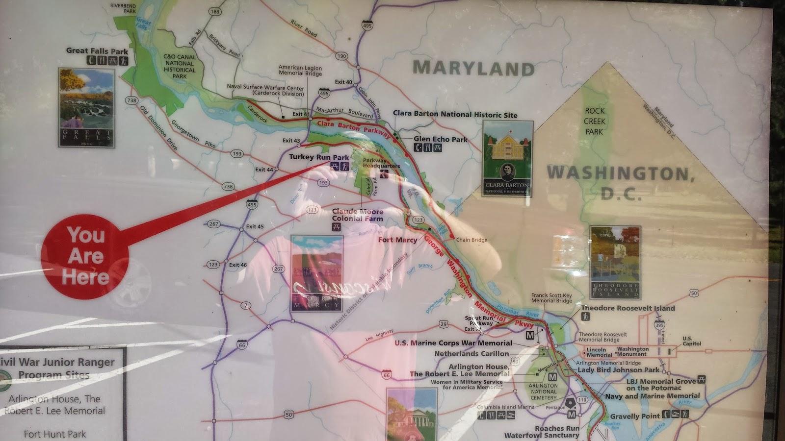 map george washington memorial parkway