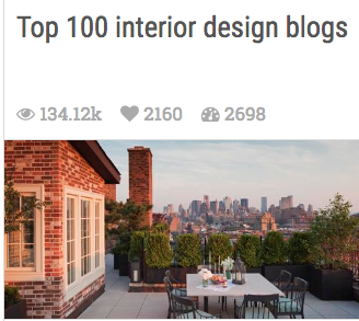 Nest By Tamara Voted #1 of Top 100 Design Blogs by Modenus