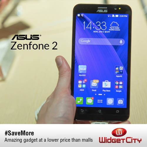 ASUS Zenfone 2 (ZE550ML) is now available at Widget City