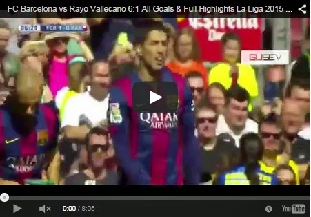 Highlights Liga Spanyol : Barcelona 6-1 Rayo Vallecano
