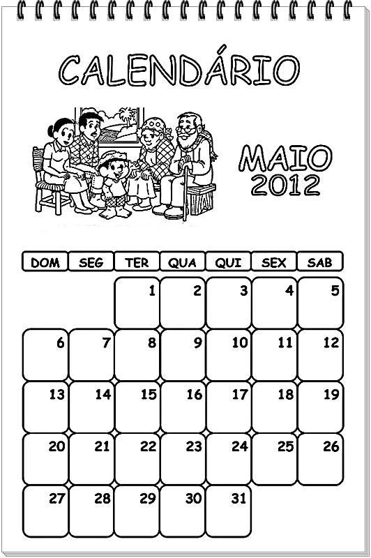 Calendário Turma da Mônica - 2012