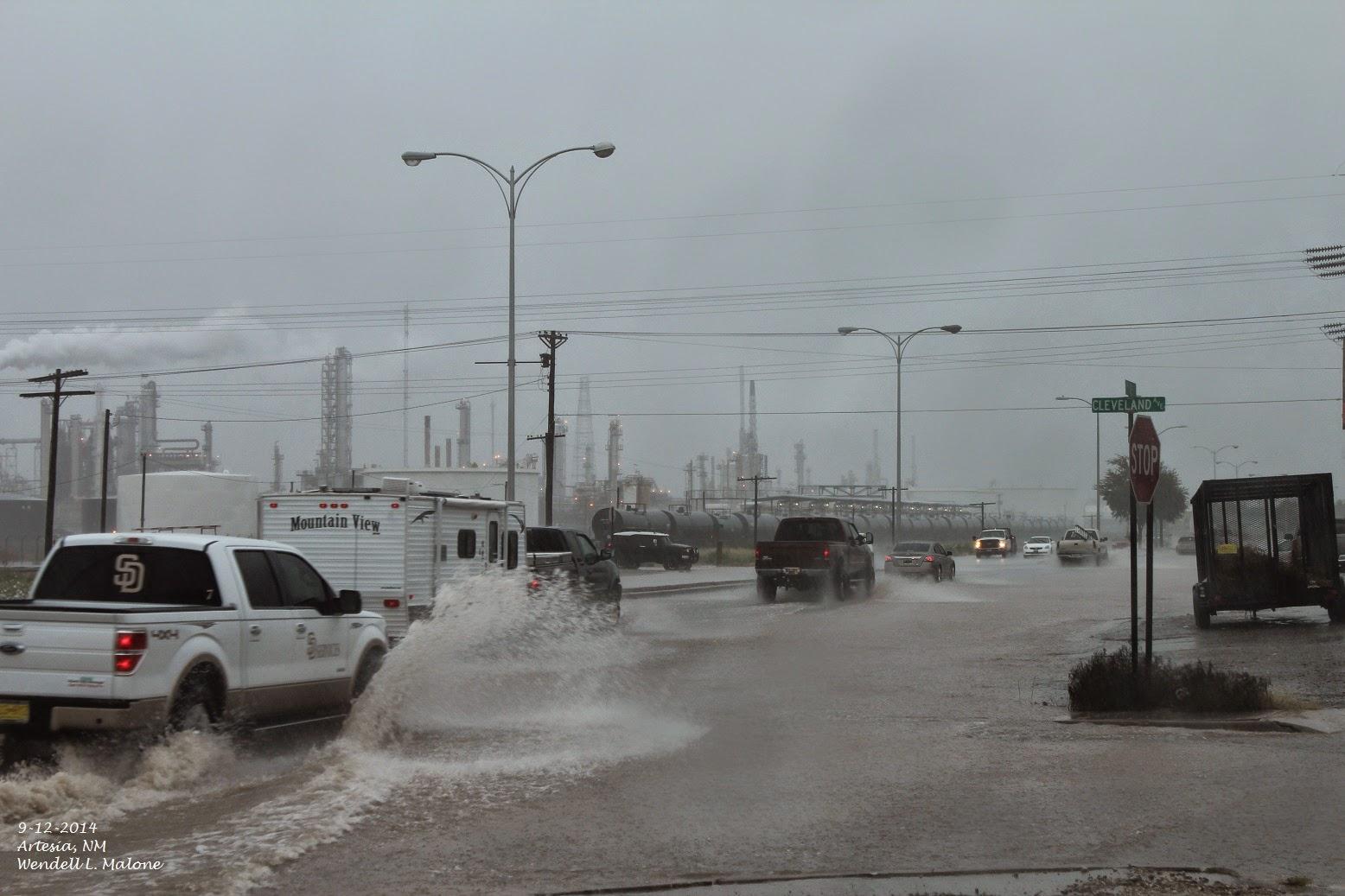 Flash flooding in eddy co nm 9 12 2014 200 midland nws radar estimated rainfall totals publicscrutiny Choice Image