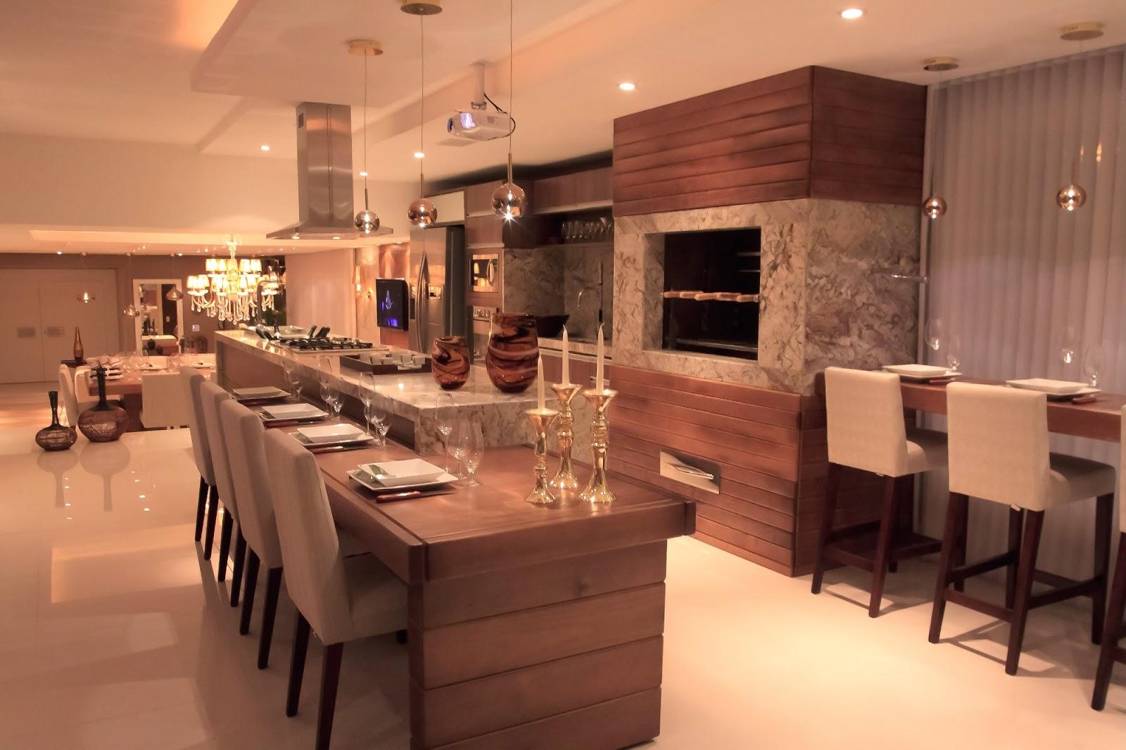 #C67605 Sou fã dessa cozinha acho lindo o decor a cor o mix de materiais  1600x1066 px Projetos De Cozinhas Gourmets_5733 Imagens