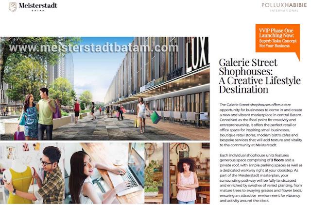 Galerie Street Shophouses Meisterstadt Batam