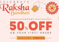 Printvenue :  Rakhi Sale offer to Get Flat 50% off
