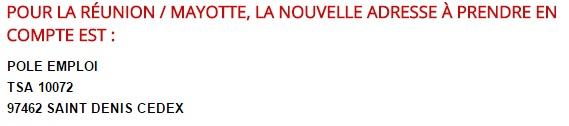 Pôle emploi - tableau La Réunion / Mayotte