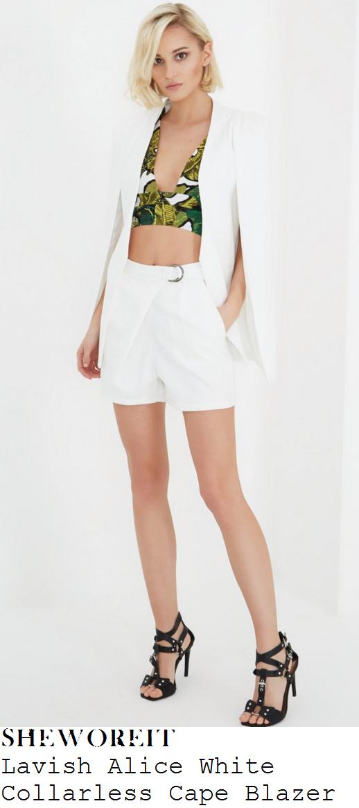 leigh-anne-pinnock-white-plunge-front-long-sleeve-cape-blazer