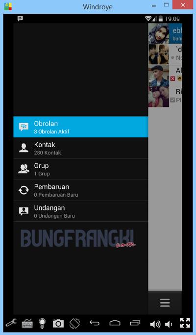 Instal aplikasi BBM di laptop dengan Windroye