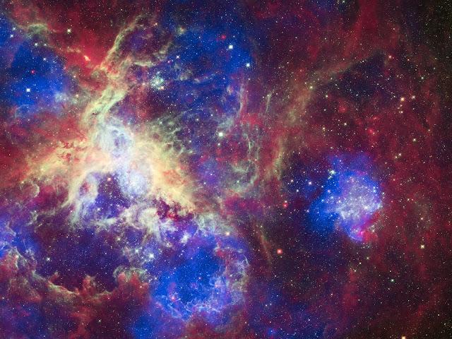 Nasa divulga belas imagens da Nebulosa da Tarântula, que está há 160 mil anos-luz da Terra