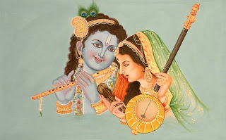 Mira Bai with Lord Krishna