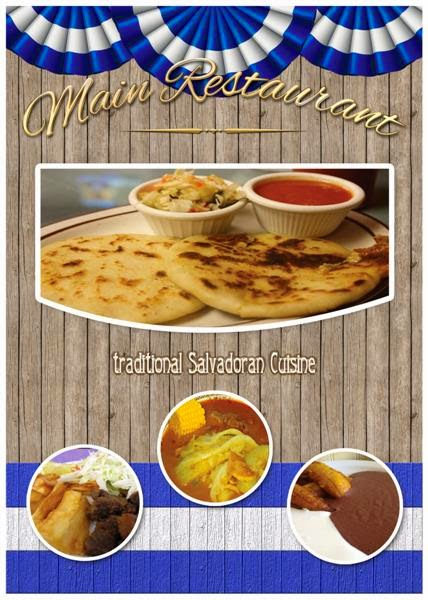 plantilla para menús para restaurantes de El Salvador