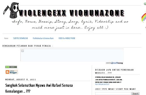 ViolenceXx VioHunaZone,Blog Baru 2011,blogger ping,pink busuk
