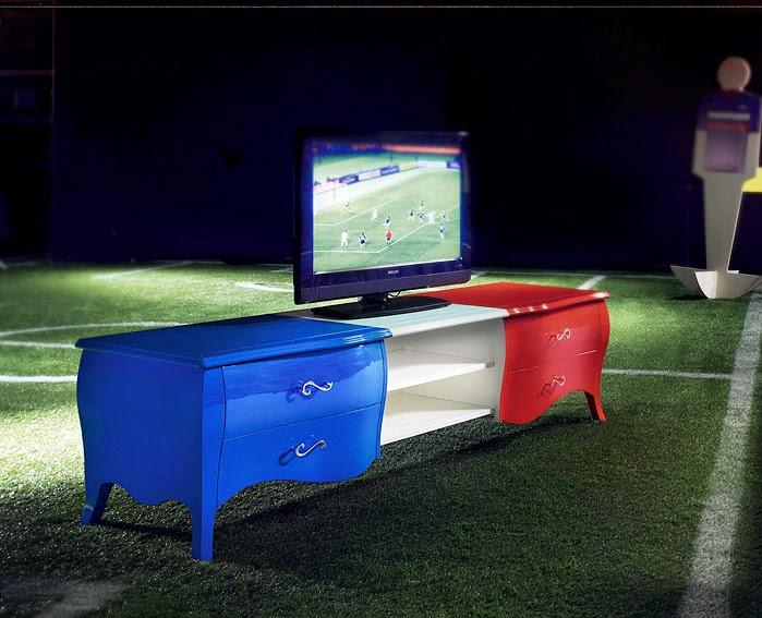 El Mundial de Futbol llega a la decoración Mueble seleccion francia