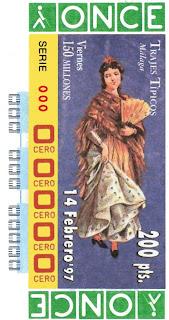 Traje típico de Málaga - Mujer - Cupones ONCE 1997
