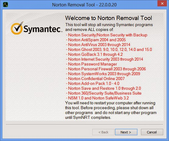 Norton Removal Tool 2015