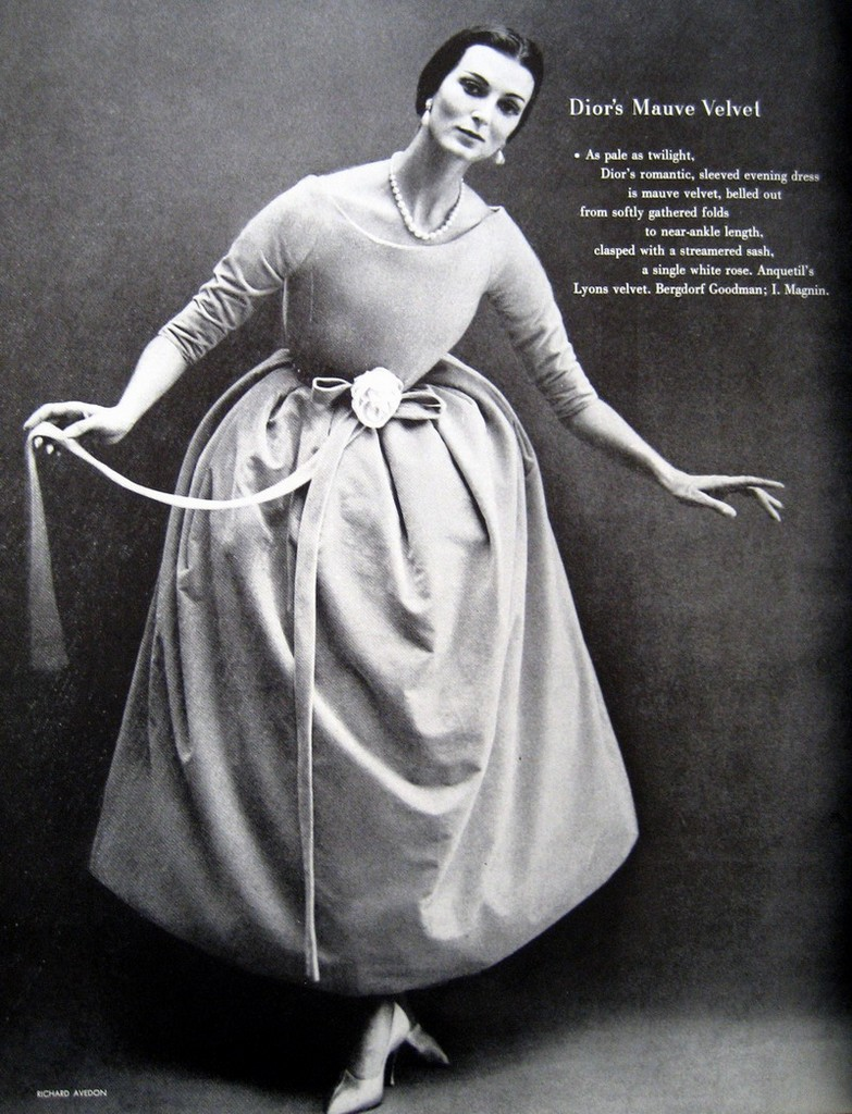 via fashioned by love | Carmen Dell'Orefice by Richard Avedon in Harper's Bazaar October 1957