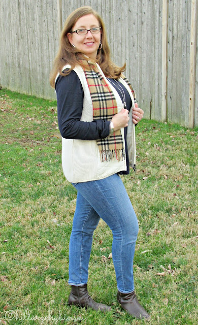 Casual Outfit Styled With a Burberry Scarf