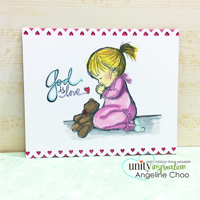 ScrappyScrappy: Unity Stamp Brown Thursday hop - God is love #scrappyscrappy #unitystampco #stamp #copic #christmas #pigmentink #mamaelephant #card #christmascard #phyllisharris #godislove