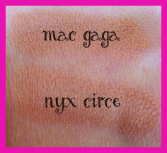 Nude Lipstick MAC Viva Glam Gaga NYC Circe
