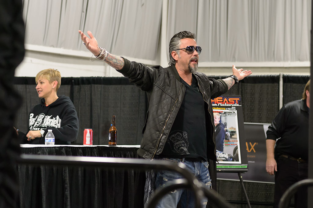 Richard Rawlings at the NorthEast Rod and Custom Car Show