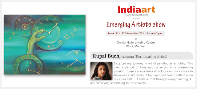 Artist Statement by Rupal Buch - Emerging Artists show by Indiaart.com