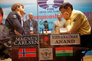 Echecs : Vishy Anand face à Magnus Carlsen - Photo © site officiel
