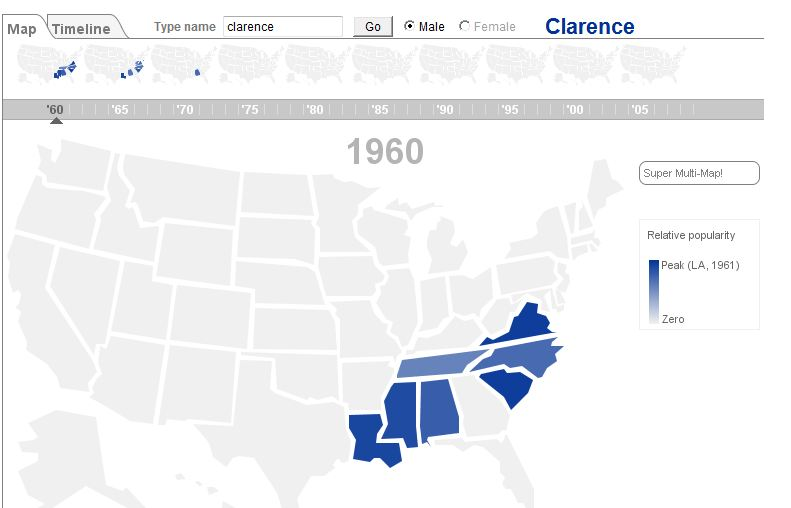 Gallagher blogs may 2012 map popularity of clarence in 1960 fandeluxe Gallery