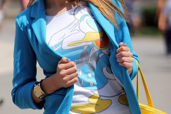 camiseta pato donald disneyland