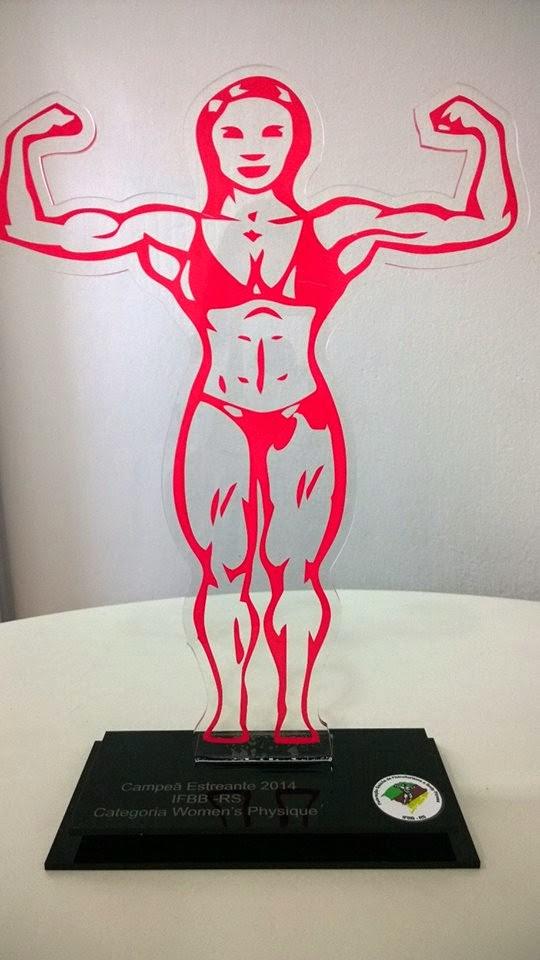 Campeã Estreantes 2014 - IFBB - RS Categoria Women's Physique acima de 1,63cm