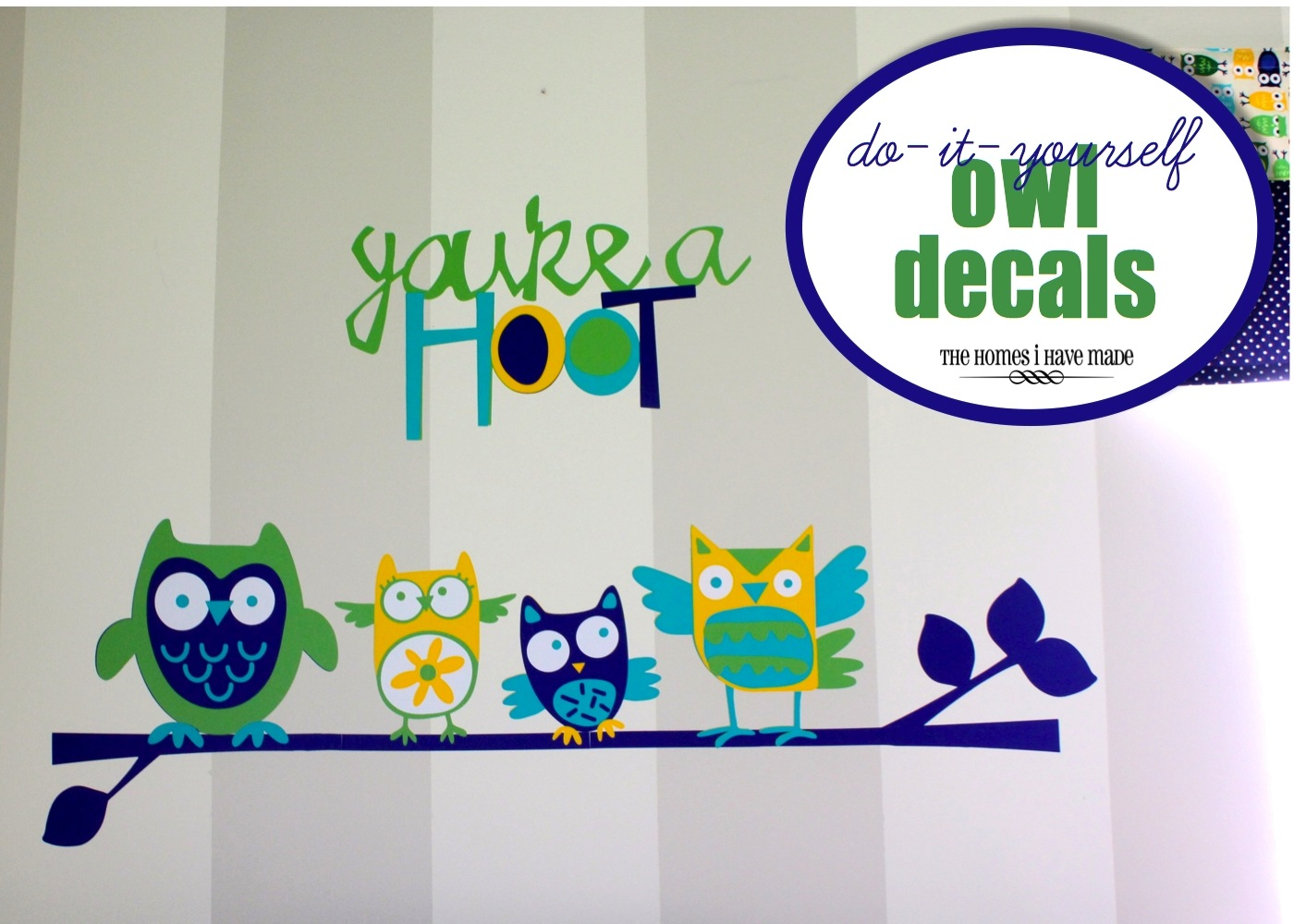 diy owl wall decals little boy room project the homes i have made