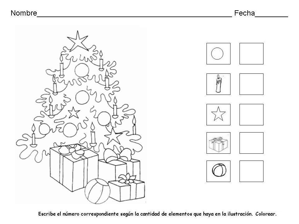 Fantástico Página De Actividad Navideña Modelo - Dibujos Para ...