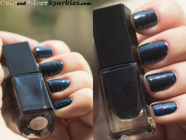nail polish, dark, navy, e.l.f.