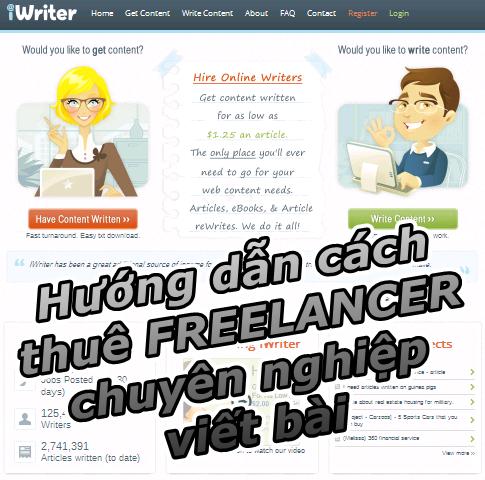 thuê Freelancer viết bài Article