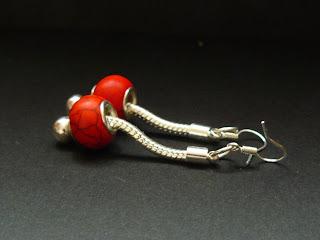 pandorka - zestaw czerwony (kolczyki)