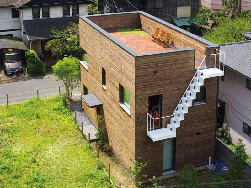 bentuk desain rumah minimalis jepang sederhana kamakura
