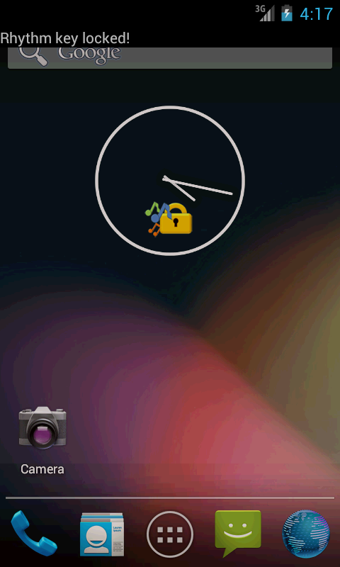 キーロック画面の画像