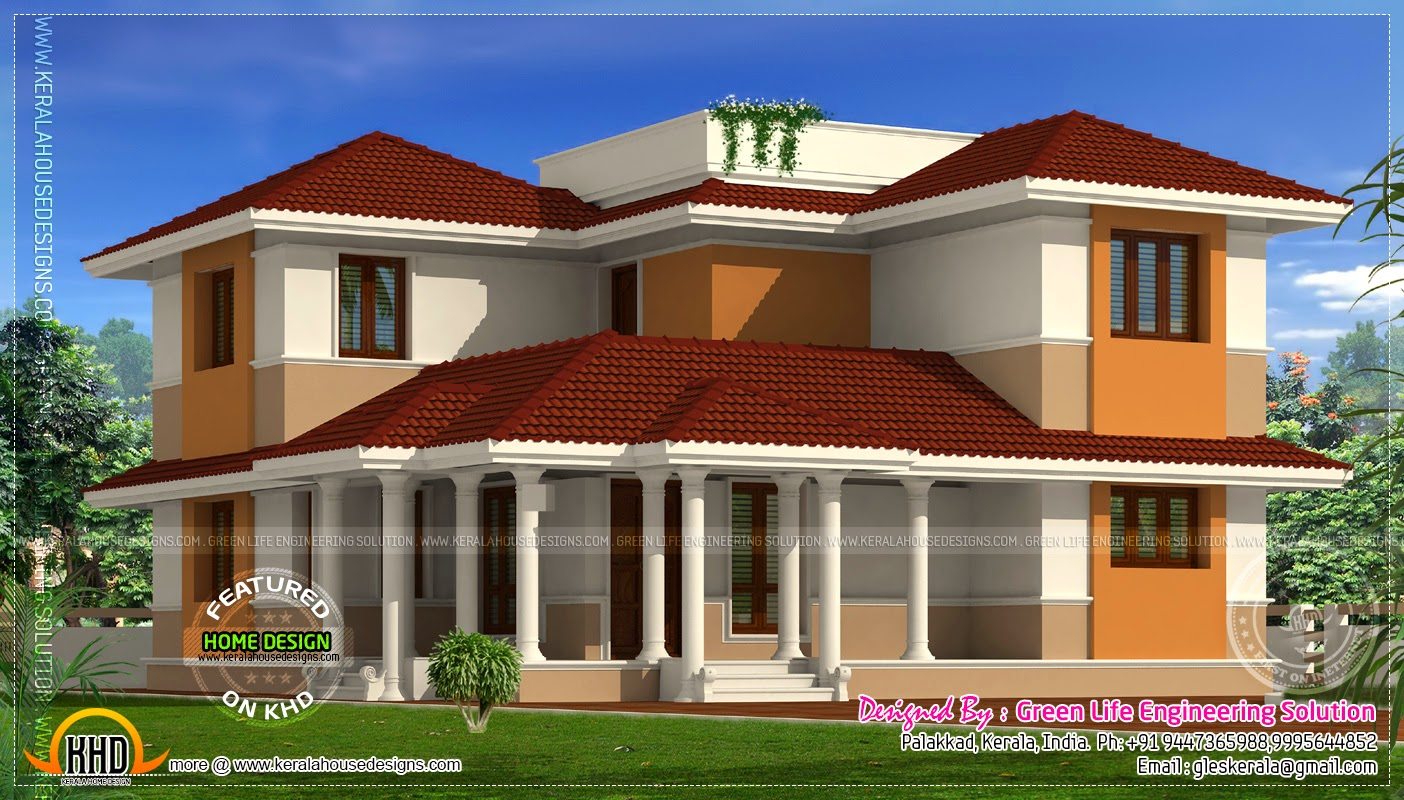 3d of 1954 4 bhk in kottayam home kerala plans for 4 bhk house plans kerala