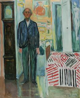 Autoportrait. Entre l'horloge et le lit, 1940-43, Huile sur toile, 149,5 x 120,5 cm, © Munch Museum / Munch-Ellingsen Group / BONO 2011, © Adagp, Paris 2011