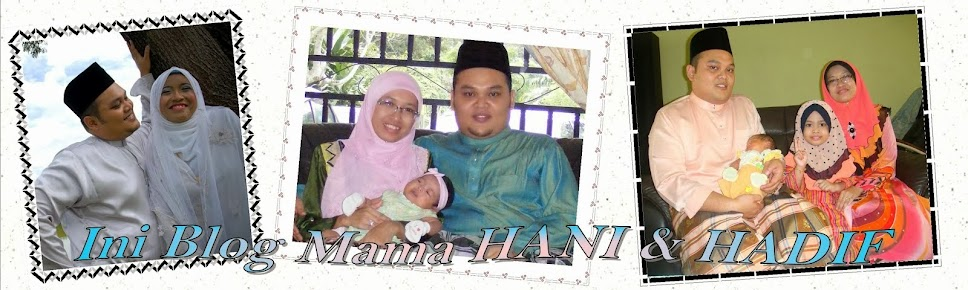 Ini Blog Mama HANI dan HADIF