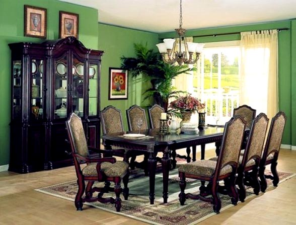 Formal dining room furniture furniture for Formal dining room table decor