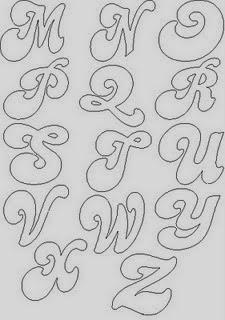 Molde de Letras - Alfabeto para Mural II