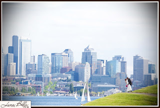 Chris and Karen at Gas Works Park - Patricia Stimac, Seattle Wedding Officiant