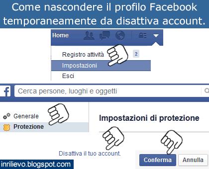 nascondere profilo facebook